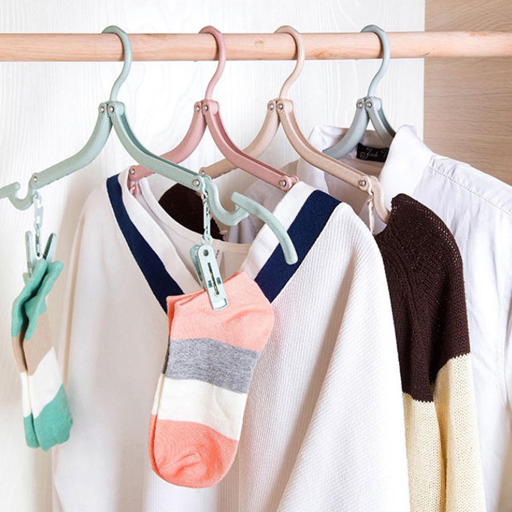걸이 다용도 이쁜 접이식 옷걸이 양말 바지 니트 옷걸이 접이식옷걸이 양말집게 플라스틱옷걸이 이쁜옷걸이