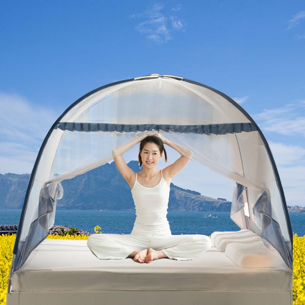 원터치모기장 양문형 침대 거실 테트형 방충망