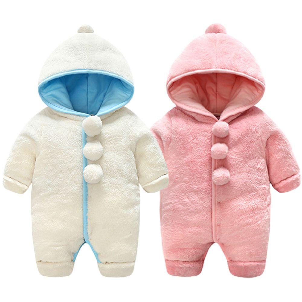 (겨울용)보들보들 후드 방한우주복 (0-12개월) 300165 우주복 아기우주복 후드우주복 유아우주복 신생아외출복 겨울우주복 방한우주복