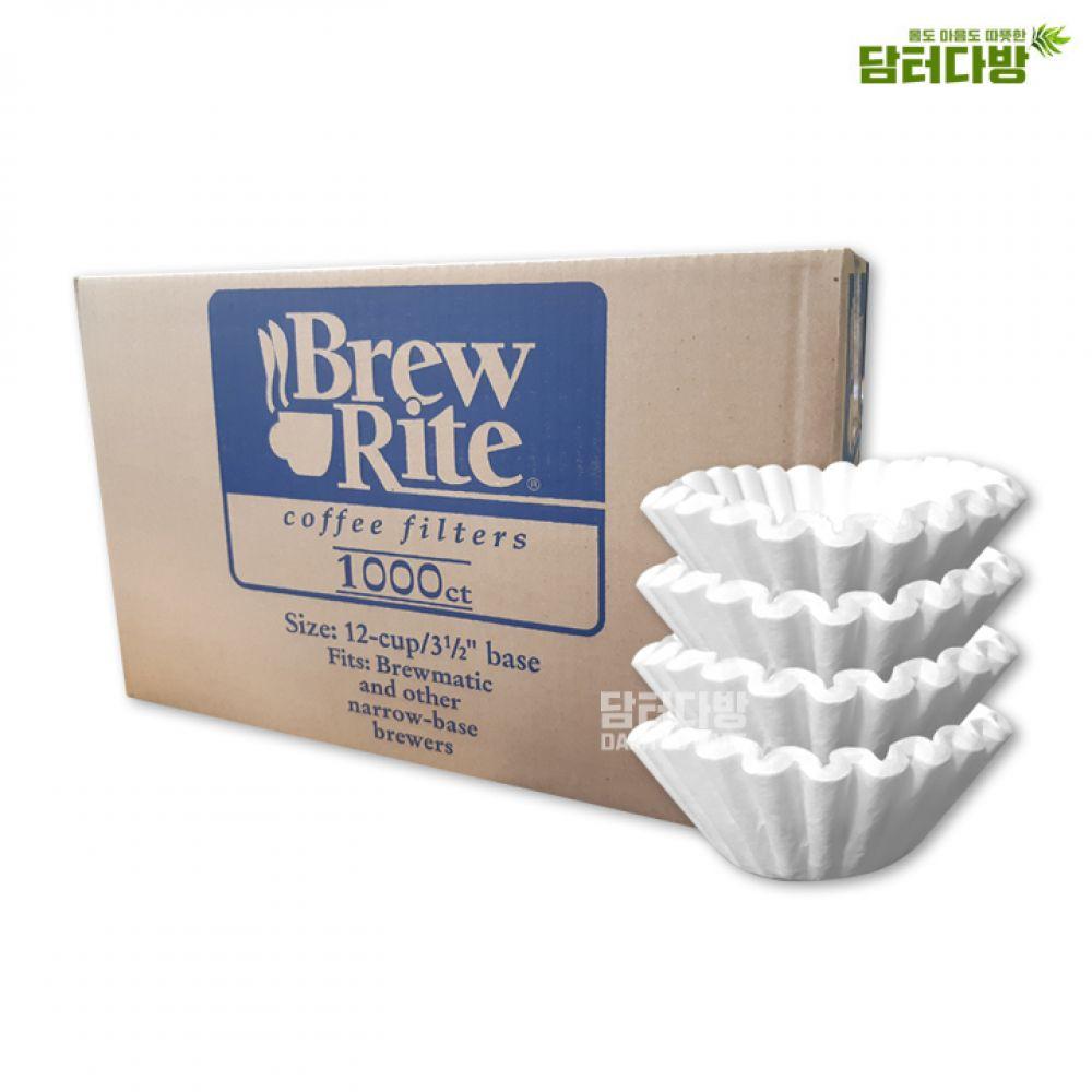 Brew Rite 커피 원형여과지 12-cup No.49-101 커피여과지 여과지 원형여과지 카페 BrewRite 편리한 대용량 카페용품 누구나좋아하는 집에서즐기는