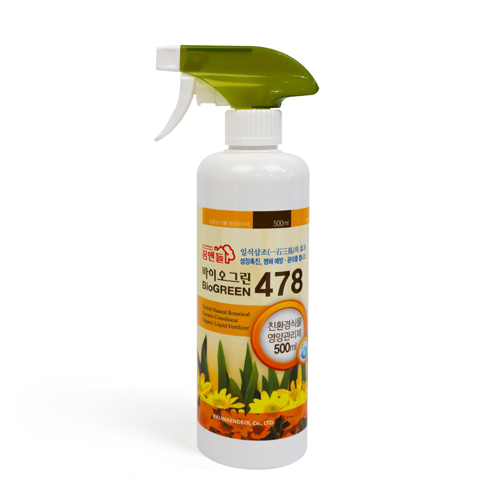 바이오그린478(500ml)  식물영양제 화분영양제 비료 비료 복합비료 식물영양제 식물복합비료 식물복합영양제 살충제