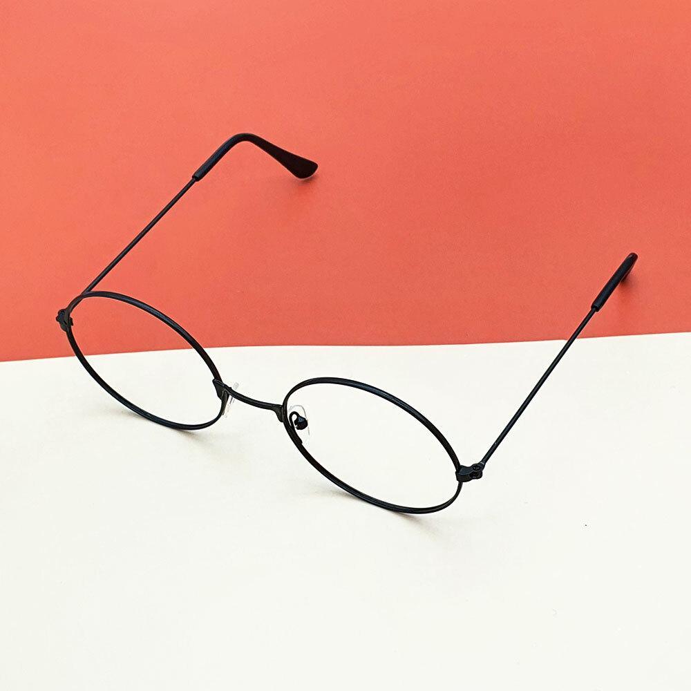 블랙 원형 안경테