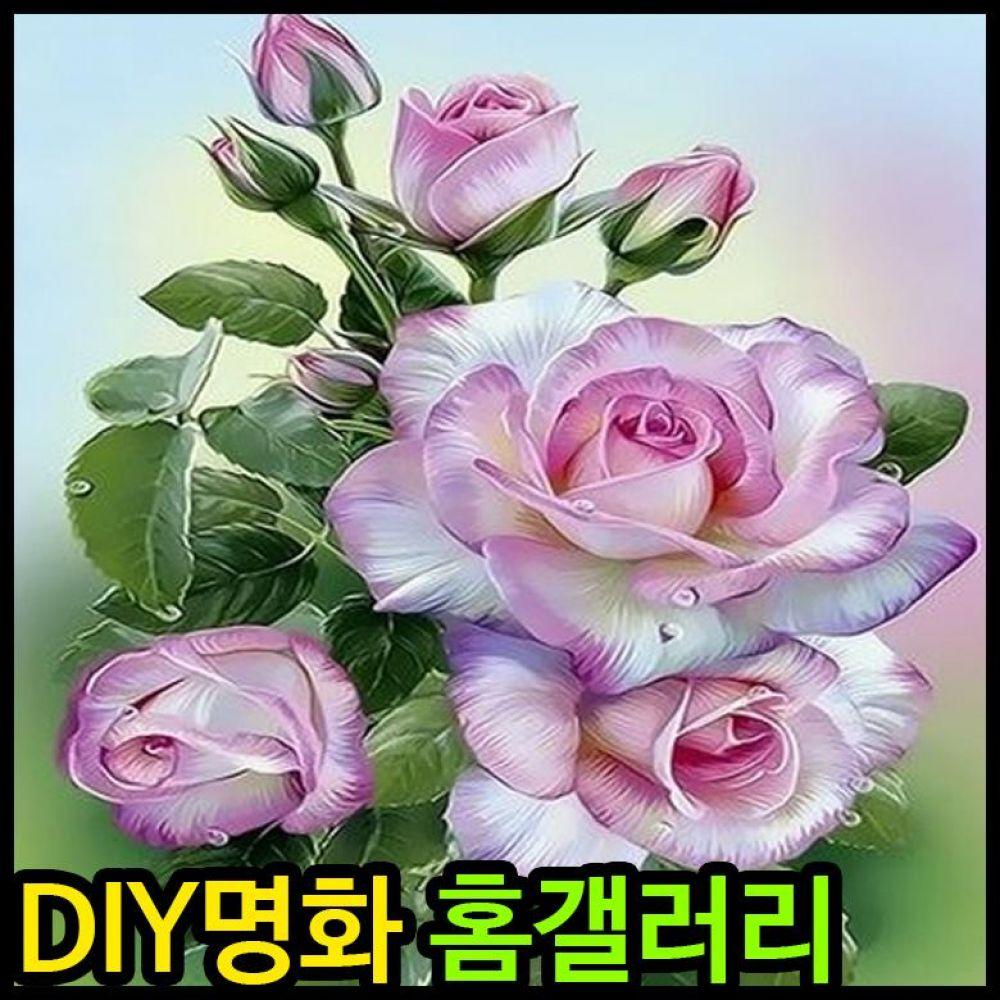 아이윙스 피포페인팅 Q3454 핑크로즈 DIY명화그리기 피포페인팅 그림액자 액자 명화 홈갤러리 diy명화 명화그리기 diy명화그리기 diy페인팅 로즈