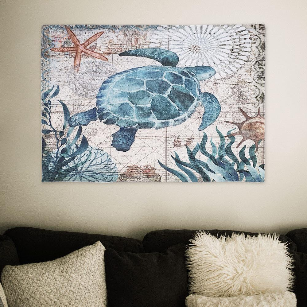 대형 패브릭 포스터 바다거북 M