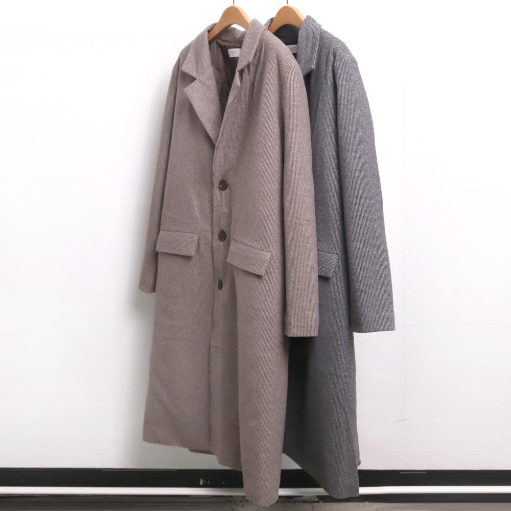 미시옷 7228L911 런던 헤링본 롱 코트 CH 빅사이즈 여성의류 빅사이즈 여성의류 미시옷 임부복 헤링본싱글롱코트