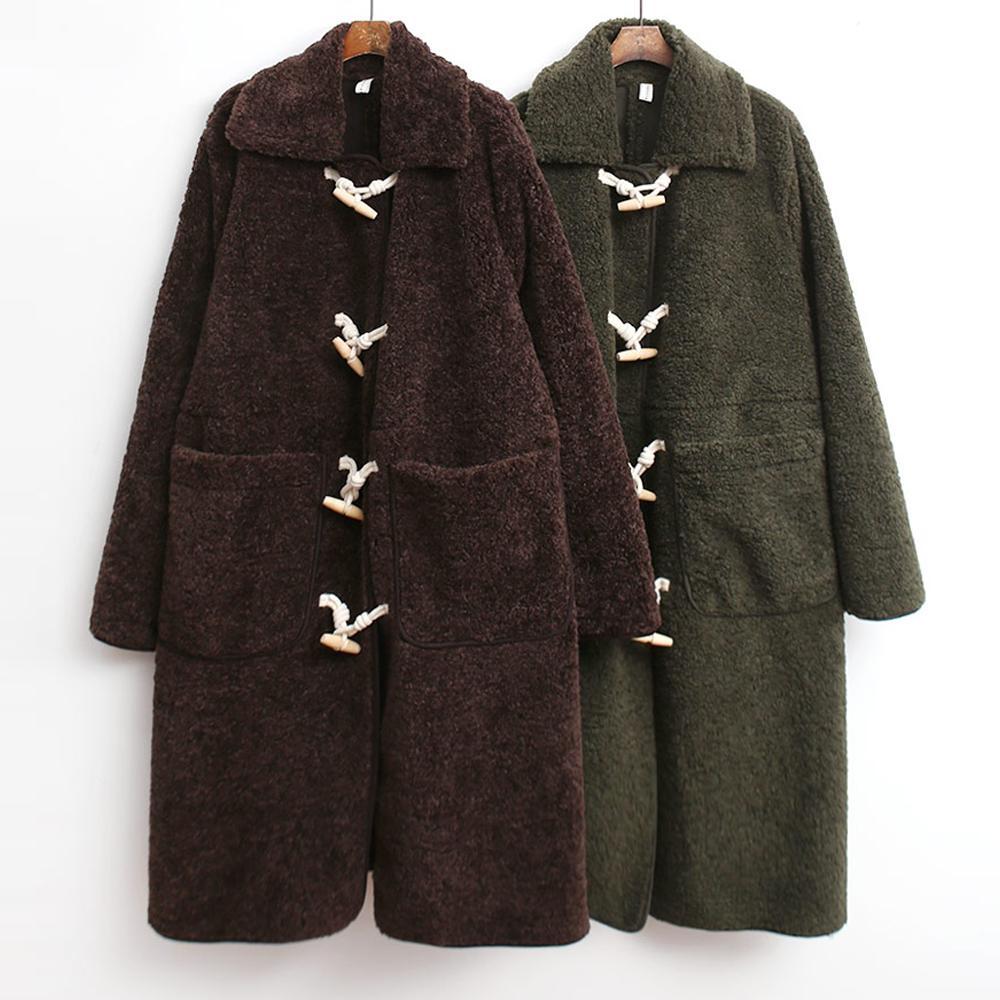 미시옷 7341L911 무스탕 양털 코트 TG 빅사이즈 여성의류 빅사이즈 여성의류 미시옷 임부복 양털떡볶이롱코트