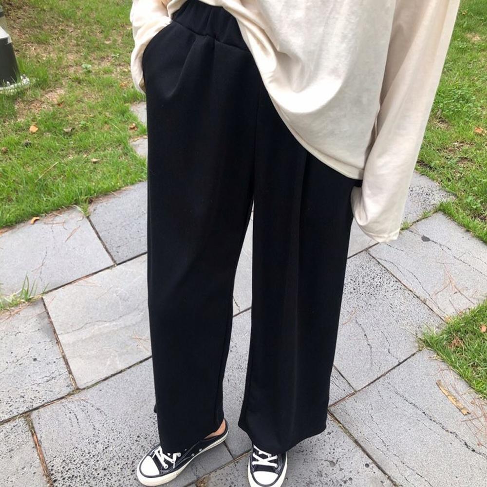 미시옷 6990L911 심플 통 밴딩 바지 TG 빅사이즈 여성의류 빅사이즈 여성의류 미시옷 임부복 보스밴딩와이드바지