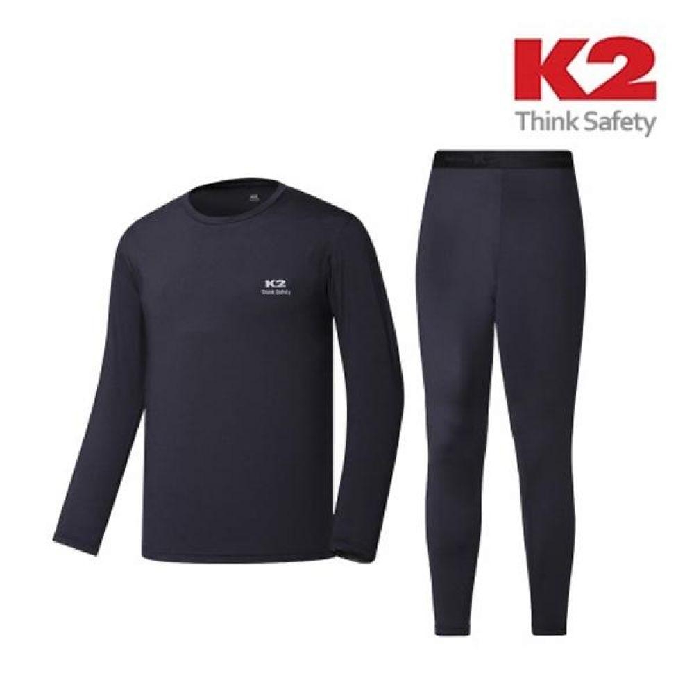 K2 보온내의 IMW19953 남성 내복세트 동계용품 K2 케이투 남자내복 내의 남자내의 내복상의 스판내복 발열내모 기모내복