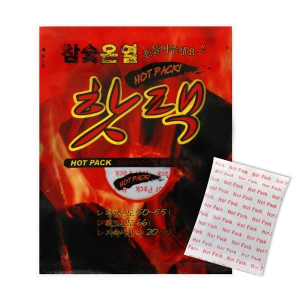 참숯 온열 핫팩 중형 80g 10매