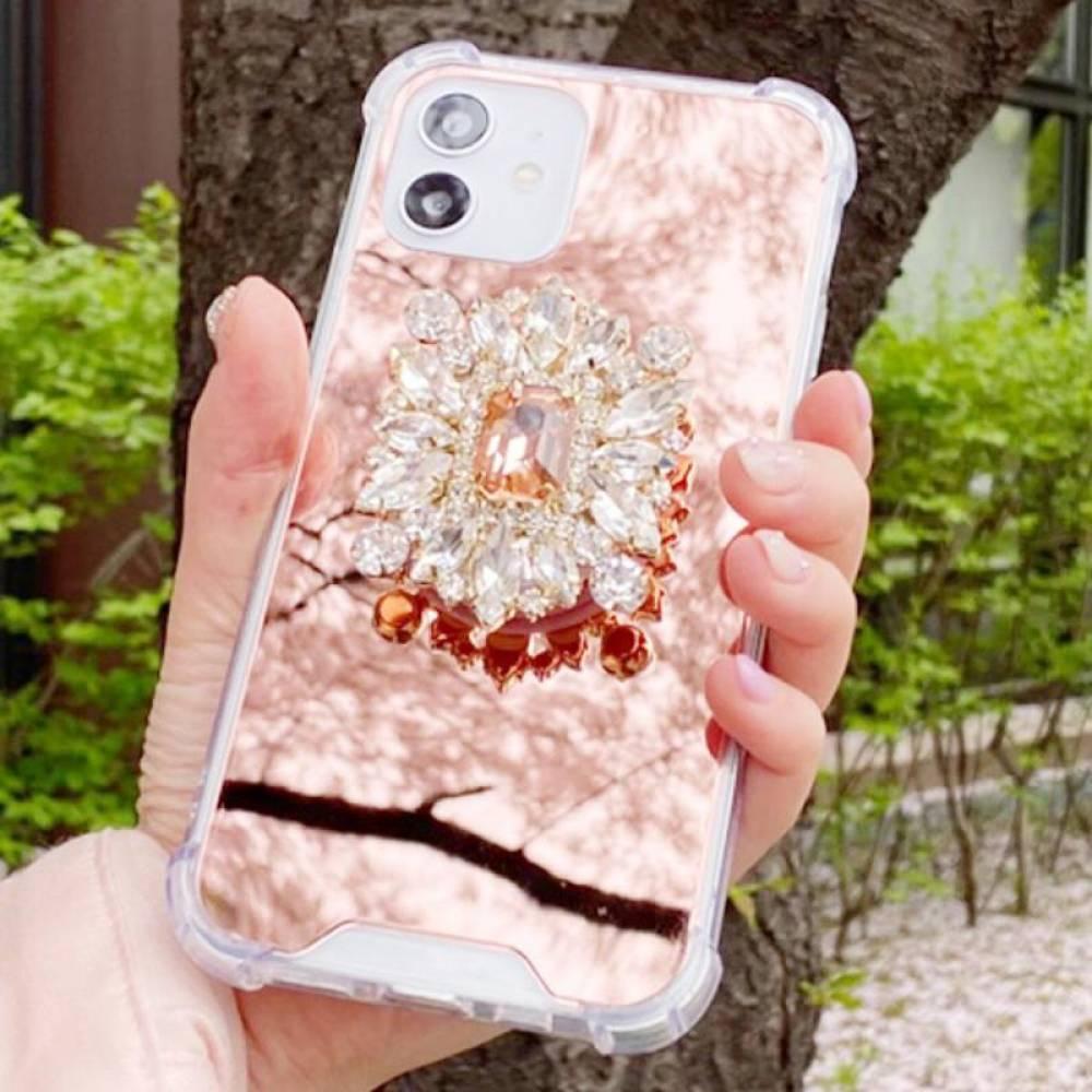 갤럭시노트9 샴페인로즈 큐빅톡 미러 케이스 N960