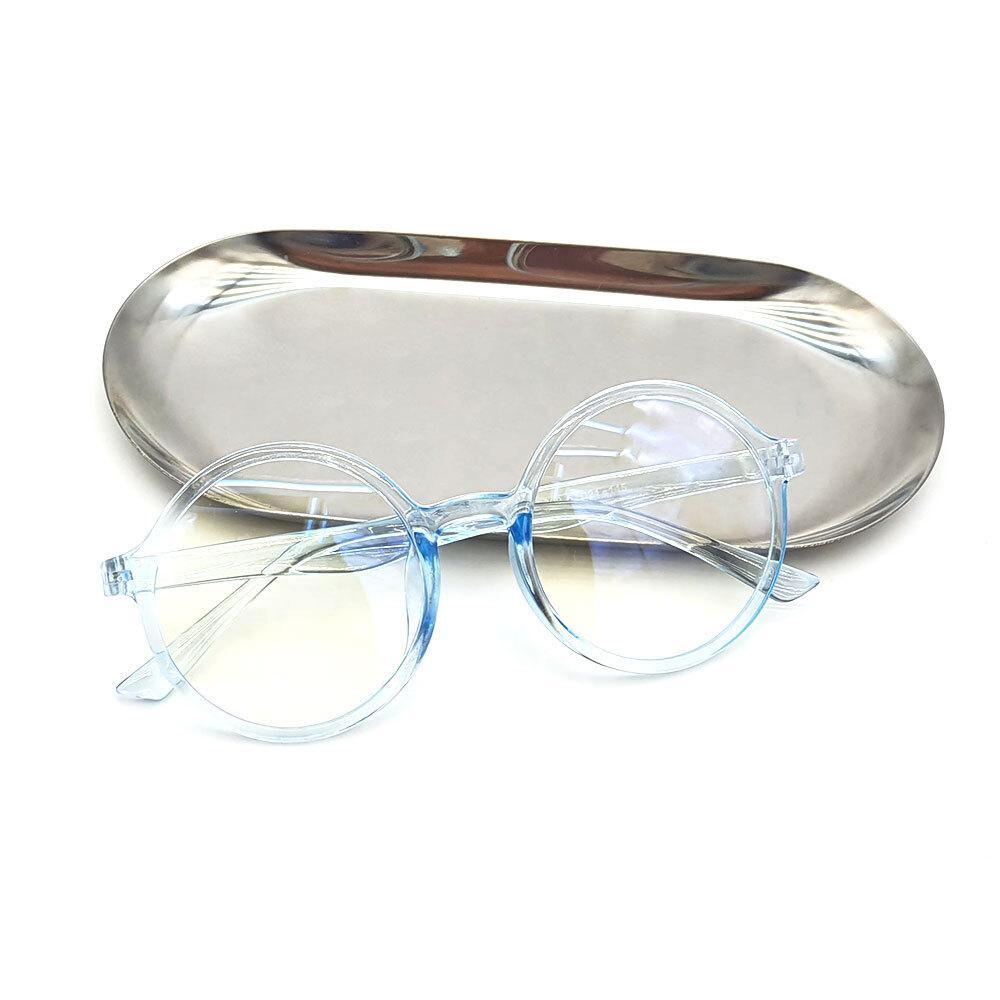 심플 패션 안경테 블루