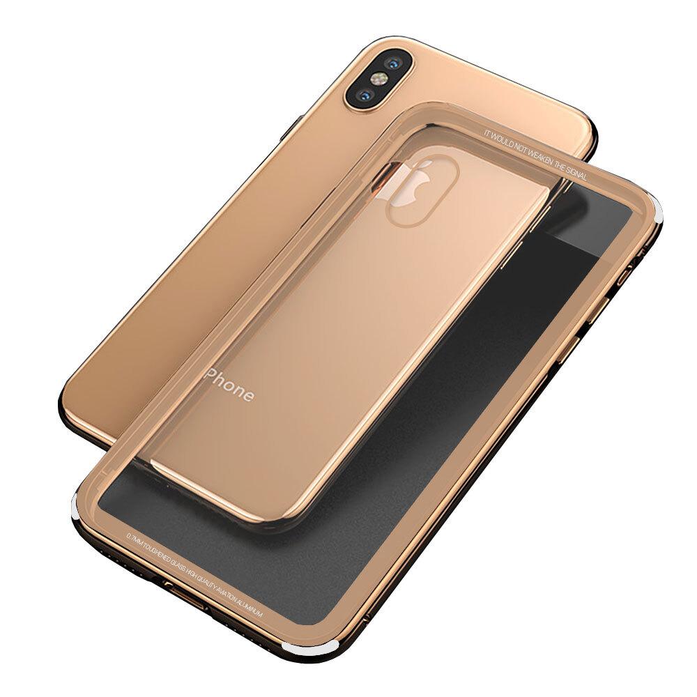 P091 아이폰8 심플 락 풀커버 강화 하드 케이스