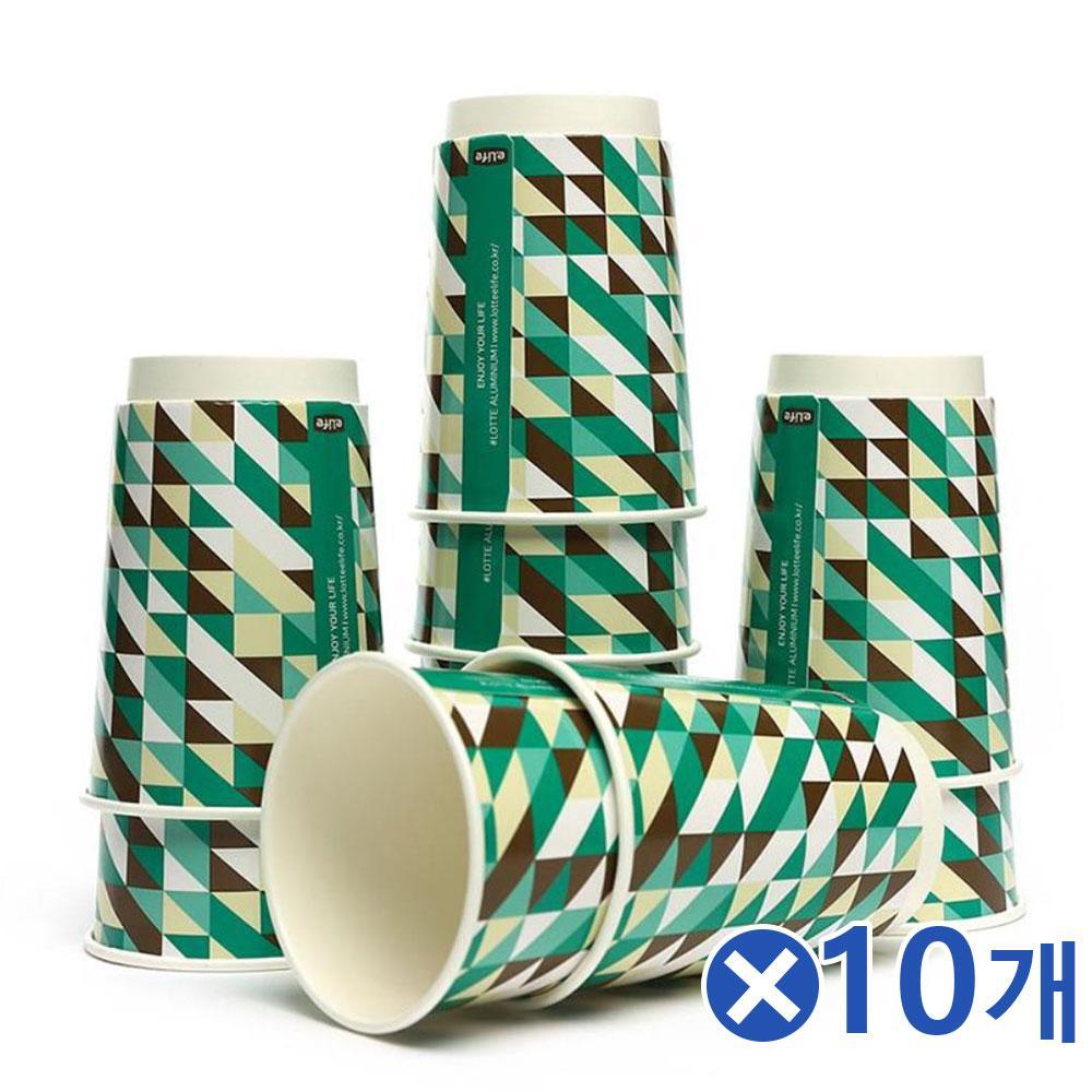 예쁜 이중 종이컵 10p세트 365mlx10개 정수기종이컵