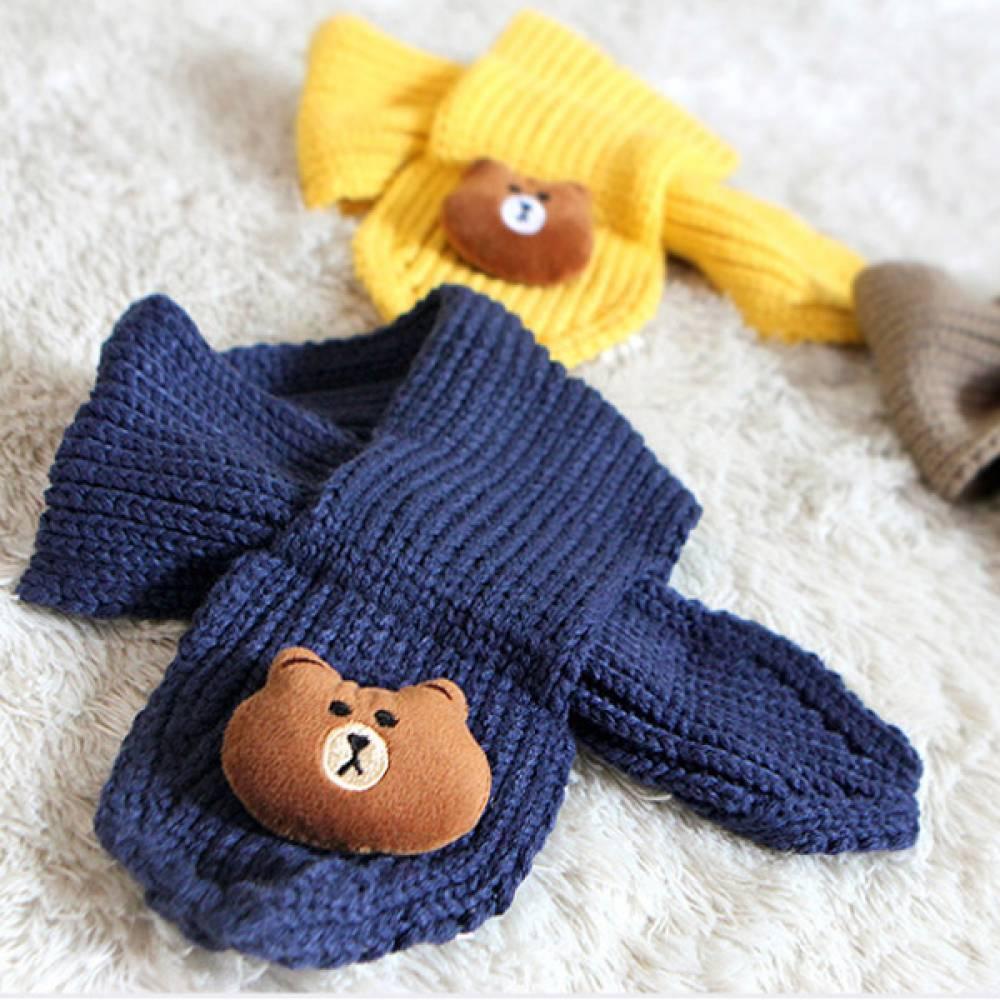 아동용 곰돌이 쁘띠 목도리/아동용 겨울 목도리 목도리 머플러 쁘띠목도리 머플러 아동목도리