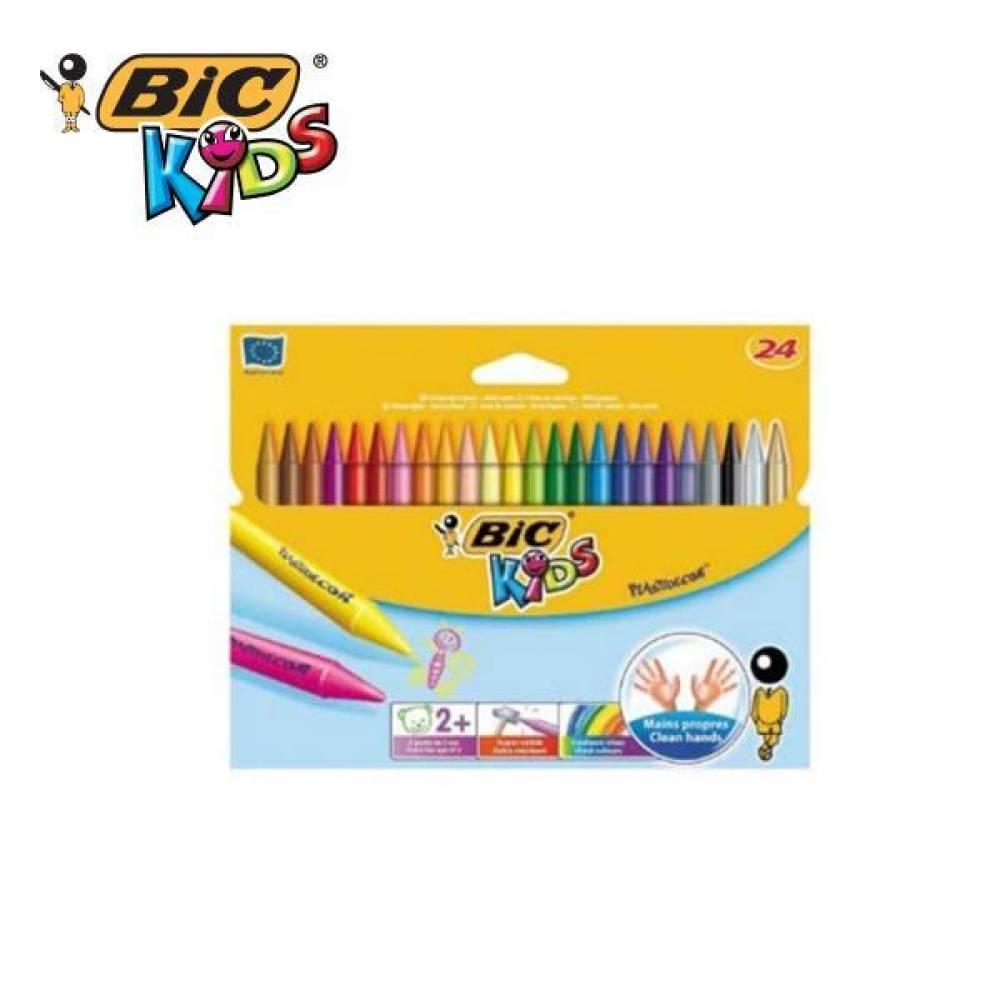 BIC 빅 왁스 24색 어린이 크레용세트 크레파스 색연필 [제작 로고 인쇄 홍보 기념품 판촉물]