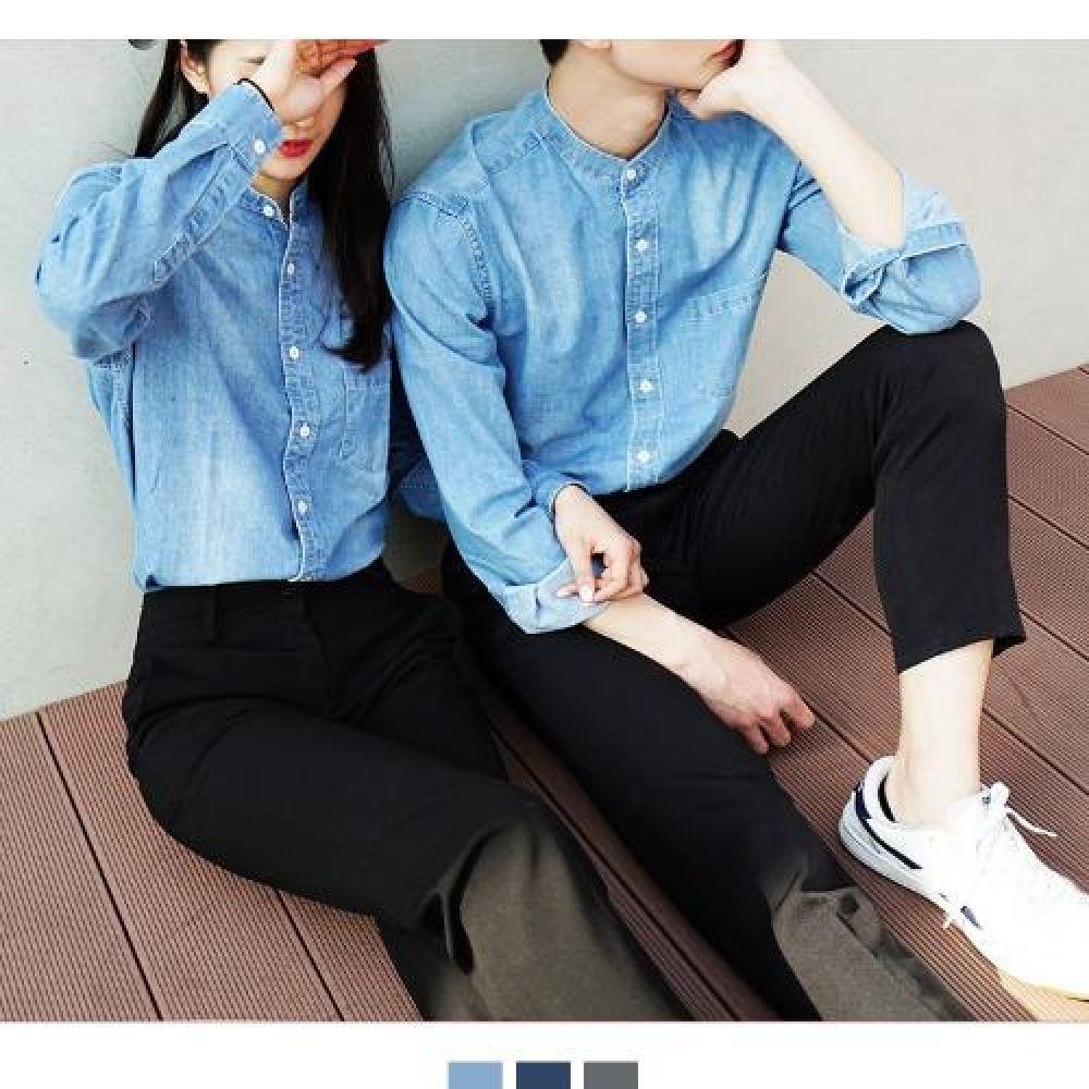 커플시밀러룩 빅사이즈 차이나카라 청남방 커플셔츠 커플시밀러룩 커플룩 시밀러룩 커플셔츠 커플남방 웨딩촬영커플룩 남자셔츠 여자셔츠 남자청남방 여자청남방