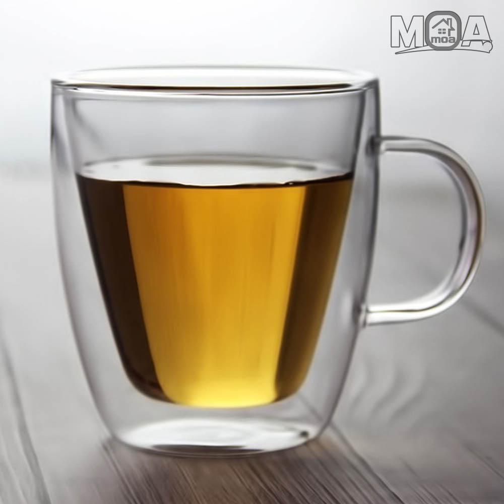 더블글라스 이중 유리컵 이중 유리 뚜껑 머그컵 450ml/475ml