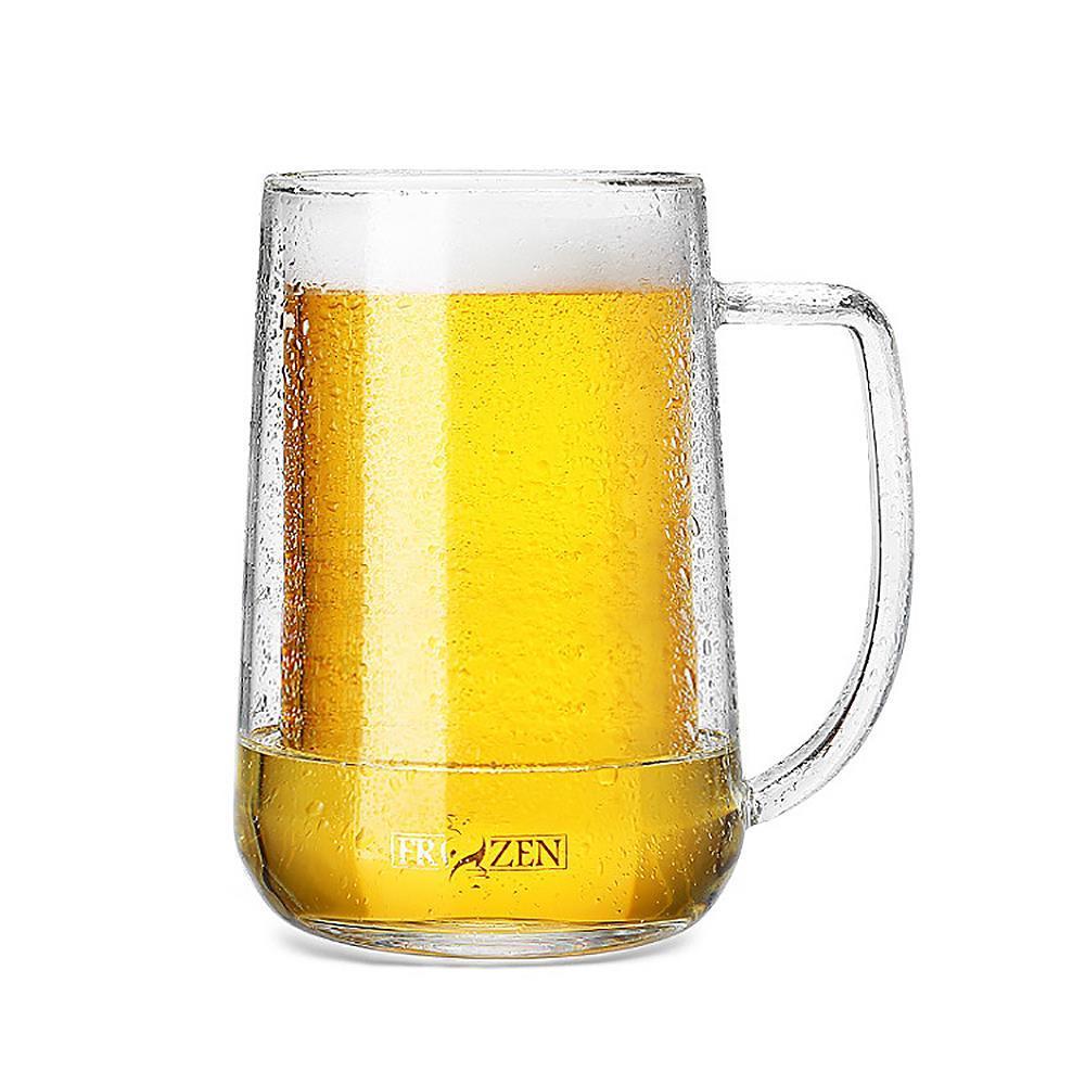 혼술 이중유리 맥주컵 400ml 음료잔 머그컵 귀여운컵