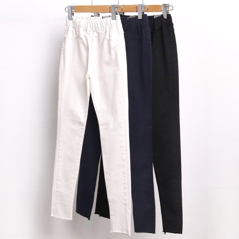 미시옷 4262L911 컷팅 면 스키니 팬츠 LO 빅사이즈 여성의류 빅사이즈 여성의류 미시옷 임부복 데일리사계절스키니