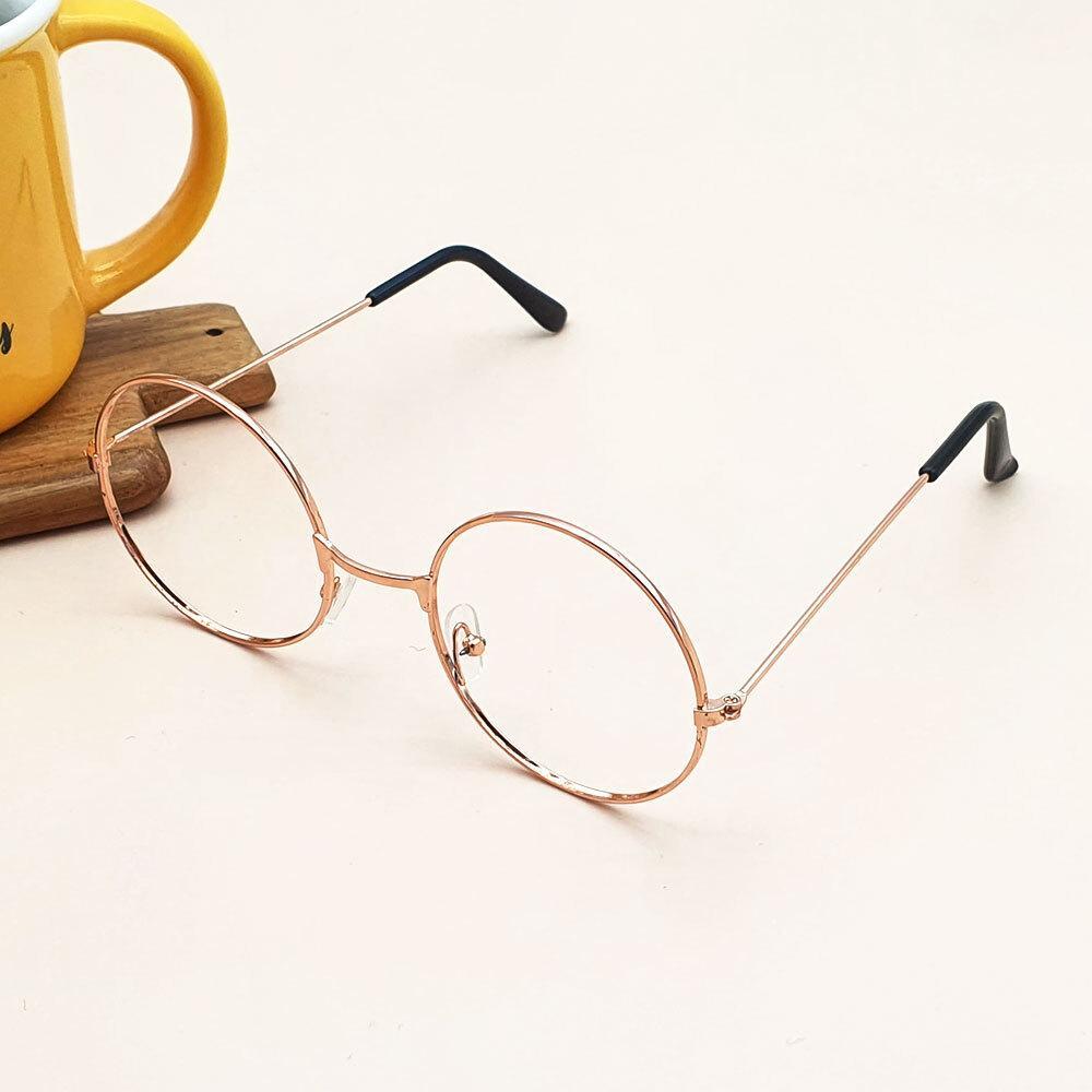 로즈골드 원형 안경테