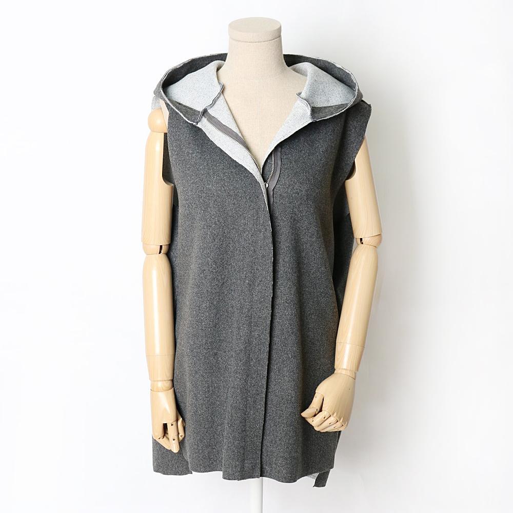 미시옷 7334L911 오프닝 조끼 집업 HG 빅사이즈 여성의류 빅사이즈 여성의류 미시옷 임부복 모직베스트후드집업