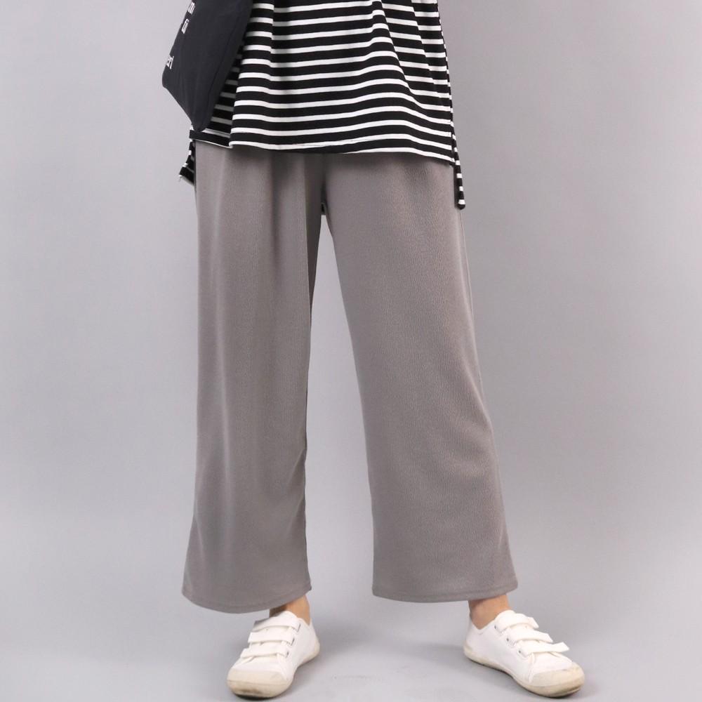 미시옷 4043L911 소프트 니트 통 바지 WW 빅사이즈 여성의류 빅사이즈 여성의류 미시옷 임부복 니트데일리통바지